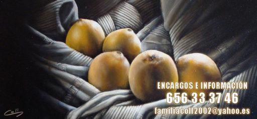 bodegon de frutas del artista plastico miguel angel coll