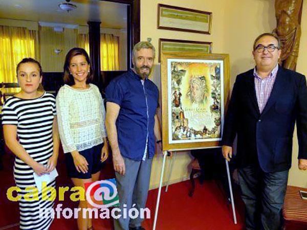 Presentación del cuadro ganador de las fiestas de Cabra 2015