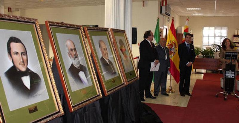 cuadros de ministros egarenses pintados por Miguel Angel Coll