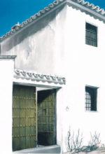 Casa de pueblo dibujada al oleo