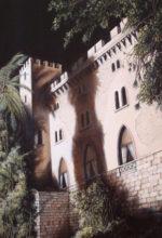 Palacio de la Almudaina (Palma de Mallorca) pintado al oleo