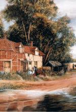 Escena rural pintada al oleo