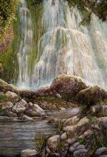 Las Chorreras de Cabra, cuadro pintado la oleo