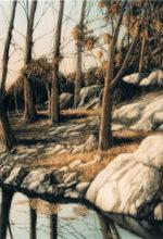 Paisaje pintado al oleo. Fuente de las Piedras, Cabra