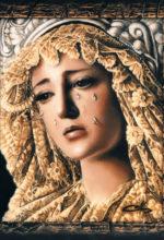 Pintura al oleo del rostro de la Virgen