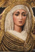 Pintura del rostro de la Virgen