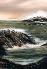 oleo de una escena marina