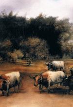 Escena ganadera pintada al oleo
