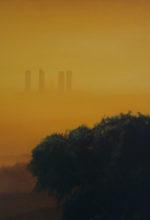 Torres de Madrid pintadas al oleo