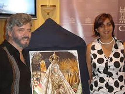 presentacion del cartel ganador de la feria de Cabra 2008